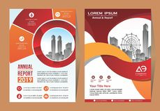 Corporate flyer, layout template. with elements for picture. Corporate flyer, layout template. with elements and placeholder for picture stock illustration