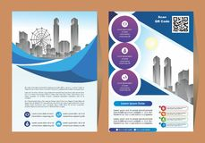 Corporate flyer, layout template. with elements for picture. Corporate flyer, layout template. with elements and placeholder for picture vector illustration