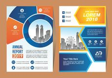 Corporate flyer, layout template. with placeholder for picture. vector illustration