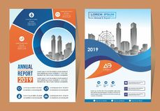 Corporate flyer, layout template. with placeholder for picture. royalty free illustration