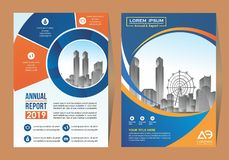 Corporate flyer, layout template. with placeholder for picture. stock illustration