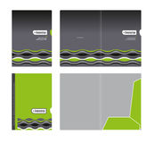 Corporate folder, cover template and cutting Royalty Free Stock Photography