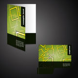 Corporate folder with die cut design Stock Photos