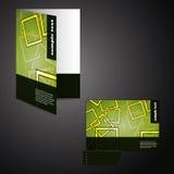 Corporate folder with die cut design Stock Photos