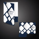 Corporate folder with die cut design Royalty Free Stock Image