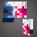 Corporate folder with die cut design Royalty Free Stock Photography