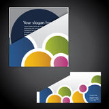 Corporate Folder with Die Cut Design Stock Images