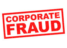 CORPORATE FRAUD. Red Rubber Stamp over a white background Stock Images