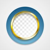Corporate golden circle for web design Stock Images