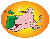 Corporate greed. Cartoon illustration of corporate greed Royalty Free Stock Photos