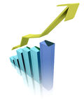 Corporate growth. Business chart increasing results Royalty Free Stock Image