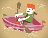 Corporate Guy in his boat Royalty Free Stock Photo
