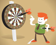 Corporate Guy Hits a Bullseye. Stock Image