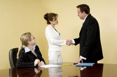 Free Corporate Hand-shake Royalty Free Stock Images - 610429