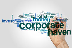 Corporate haven word cloud Royalty Free Stock Photos