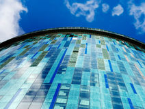 Corporate head office high rise glass towers. Corporate head office high rise glass tower with clouds with cloud reflection Royalty Free Stock Photography