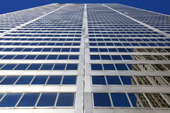 Corporate Headquarter. The View of the Corporate Tower on the blue sky background Royalty Free Stock Photo
