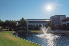 Corporate headquarters campus of Keurig Dr Pepper in Plano, Texas, USA. PLANO, TX, USA-JULY 7, 2018: Corporate headquarters campus of Keurig Dr Pepper. American royalty free stock photos