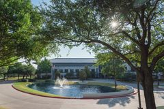 Corporate headquarters campus of Keurig Dr Pepper in Plano, Texa. PLANO, TX, USA-JULY 7, 2018: Corporate headquarters campus of Keurig Dr Pepper. American soft royalty free stock photo