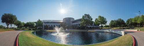 Corporate headquarters campus of Keurig Dr Pepper in Plano, Texa. PLANO, TX, USA-JULY 7, 2018: Panorama view corporate headquarters campus of Keurig Dr Pepper Stock Photos