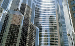 Corporate Headquarters Chicago Illinois USA. High rent business district of downtown Chicago stock image