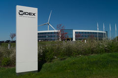Corporate headquarters of Widex. Placed in Denmark. Widex is a world leader within hearing aids. The headquarters were built in 2010 and are environmentally Royalty Free Stock Photo