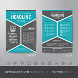 Corporate hexagonal brochure flyer design layout template in A4 Royalty Free Stock Photo
