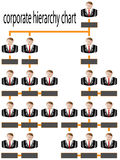 Corporate hierarchy chart business man Royalty Free Stock Photo
