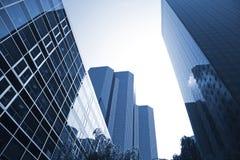 Corporate highrise - La Defense. Futuristic corporate office buildings - La Defense, Paris Stock Photography