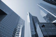 Corporate highrise - La Defense. Futuristic corporate office buildings - La Defense, Paris Stock Image