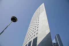 Corporate highrise - La Defense. Futuristic corporate office buildings - La Defense, Paris Royalty Free Stock Images