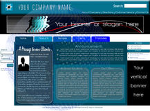 Corporate home page website template. With standard leaderboard banner and vertical banner, designed with user's ease of use in mind vector illustration