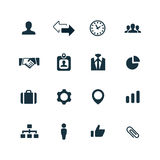 Corporate icons set Royalty Free Stock Photography