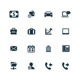 Corporate icons set Stock Photos