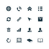 Corporate icons set Stock Photography