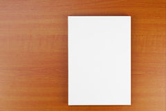 Corporate ID set on wood background. Royalty Free Stock Images