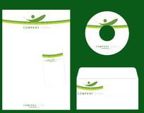 Corporate Identity. Template , cd envelope,visiting card, letter head Stock Photography