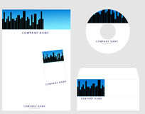 Corporate Identity. Template , cd envelope,visiting card, letter head, easily use to real estate companies Royalty Free Stock Images