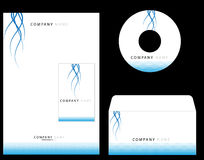 Corporate Identity. Complete corporate identity kit floral type Royalty Free Stock Images