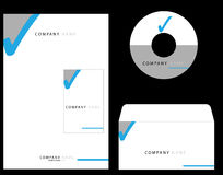 Corporate Identity. Kit on black Royalty Free Stock Images