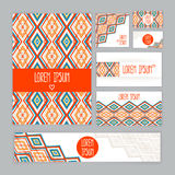 Corporate Identity with abstract pattern Royalty Free Stock Image