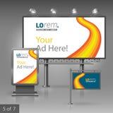 Corporate identity. Billboard, sign, light box Royalty Free Stock Image