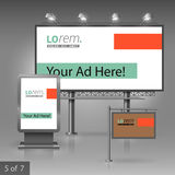 Corporate identity. Billboard, sign, light box Royalty Free Stock Photography