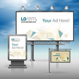 Corporate identity. Billboard, sign, light box Royalty Free Stock Photography