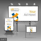 Corporate identity. Billboard, sign, light box Stock Photography