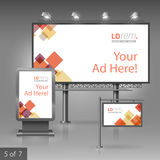 Corporate identity. Billboard, sign, light box Stock Image