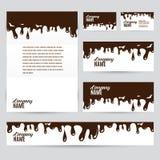 Corporate identity business chocolate set design Stock Photography
