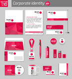 Corporate identity business photorealistic design Stock Photography