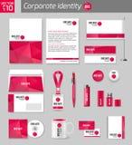 Corporate identity business photorealistic design Stock Photography
