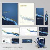 Corporate identity business set design. Royalty Free Stock Images